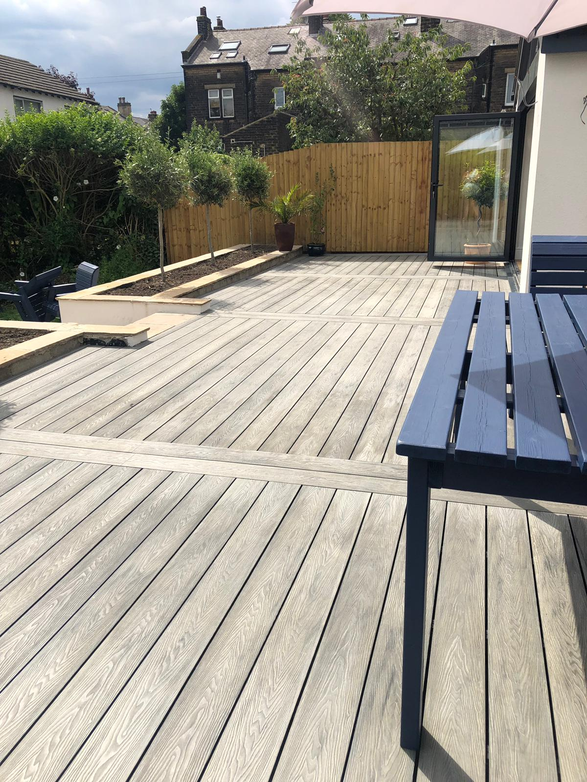 Heritage Light Mixed Grey , Deep Embossed Composite Decking