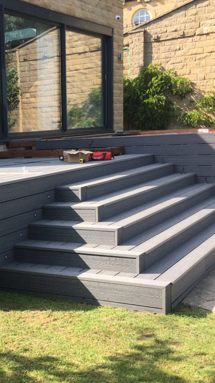 MIST GREY DEEP  EMBOSSED DECKING