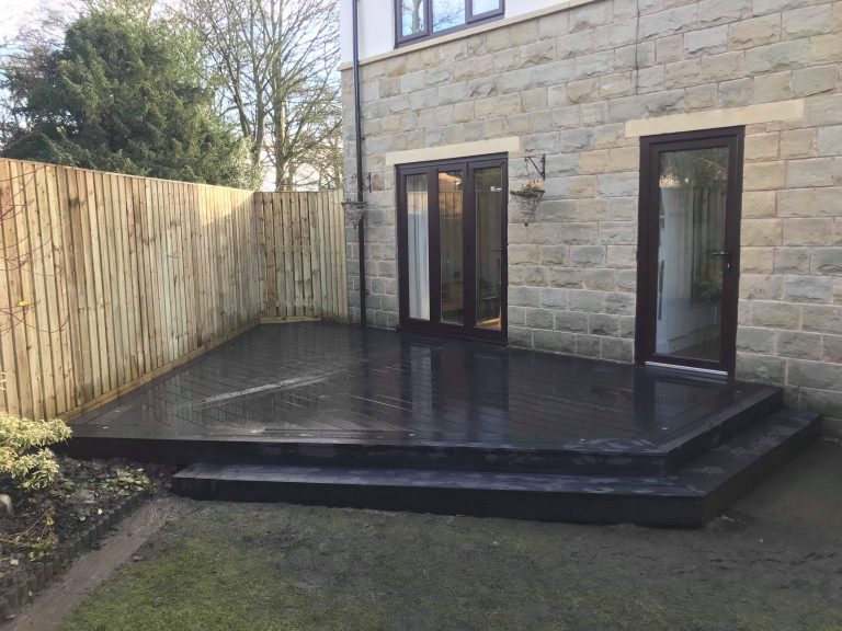 Charcoal Grey Composite Decking Contemporary Style