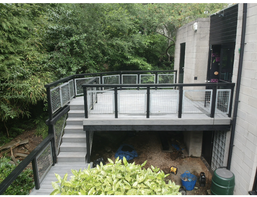 Heritage Light Mixed Grey deep embossed composite decking