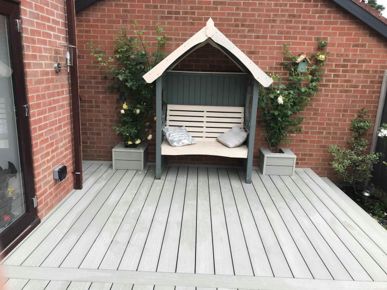 WHITE ASH COMPOSITE DECKING