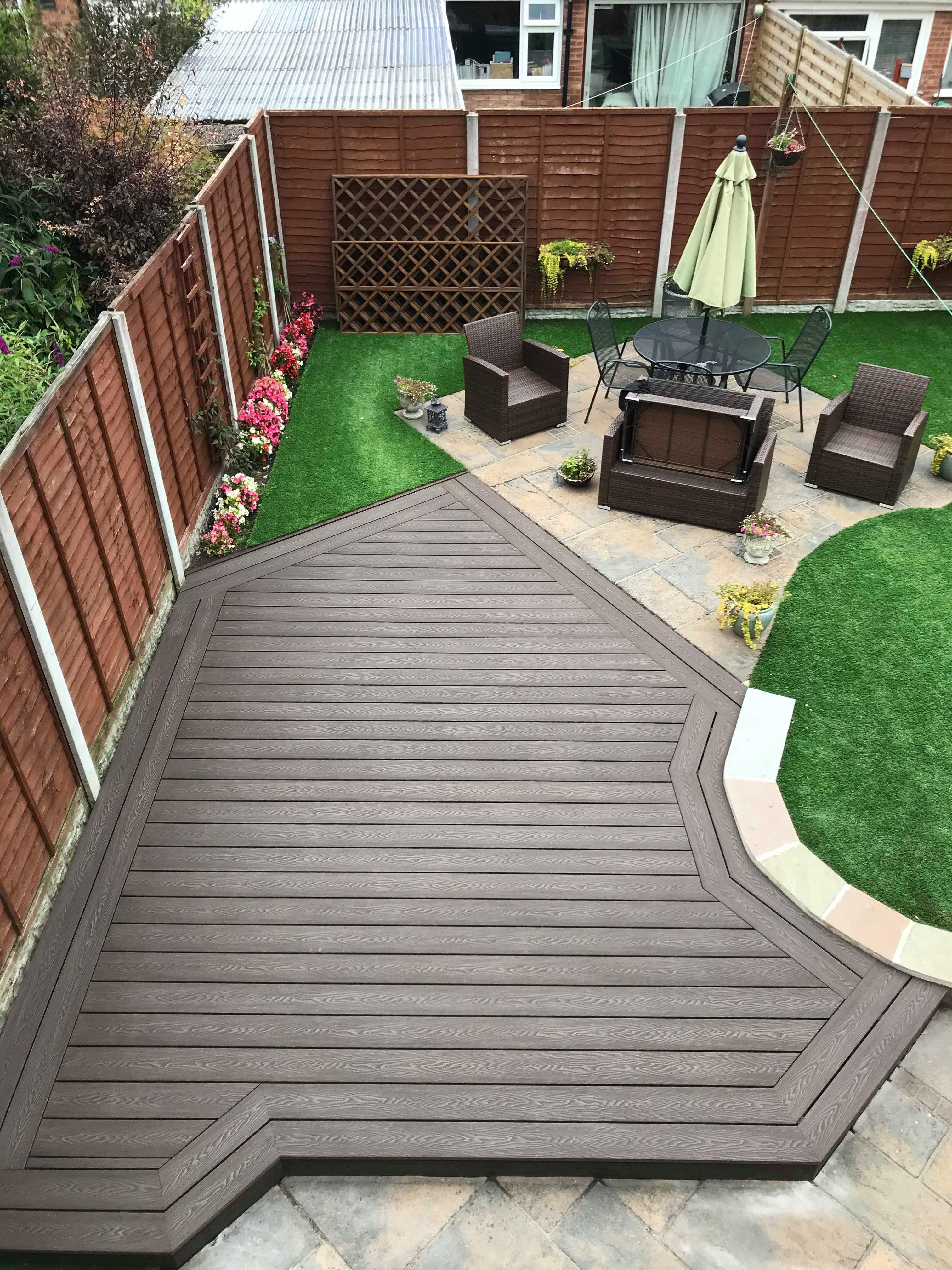 wood grain composite decking